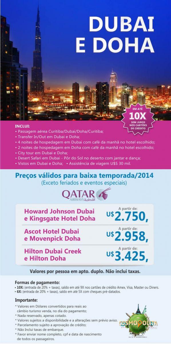 Baixa Temporada 2014 - Dubai e Doha
